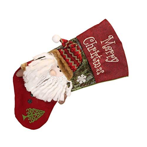 Milisten Grandes Medias de Navidad de Peluche de Góndola Gigante Calcetines 3D Bolsas de Regalo Adornos de Árbol de Navidad Chimenea Colgante Medias Bolsa de Favor de Fiesta de Navidad