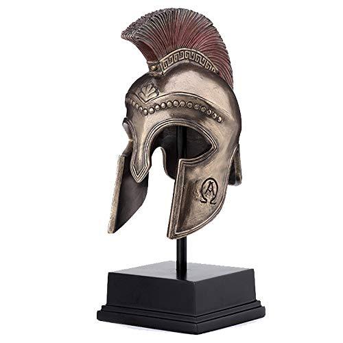 XoticBrands Greek Hoplite Helmet On Stand Sculpture