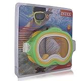 Intex 55913 Máscara, Infantil, Verde/Giallo, 20.63 x 22.86 x 8.25