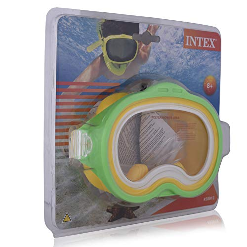 Intex Unisex Kinder 55913 Maske, Verde/Giallo, 20.63 x 22.86 x 8.25