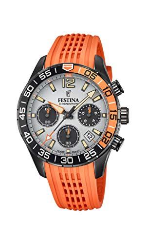 Festina Herren Analog Quarz Uhr mit Silikon Armband F20518/1
