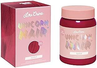 Lime Crime Unicorn Hair Dye, Lipstick - Pink-Red Fantasy Hair Color - Full Coverage, Ultra-Conditioning, Semi-Permanent, Damage-Free Formula - Vegan - 6.76 fl oz