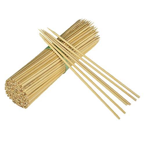 inchos de bambú para barbacoa, 130 unidades de brochetas de bambú, extra grandes longitud 35 cm/diámetro 3 mm, pinchos de madera natural de bambú