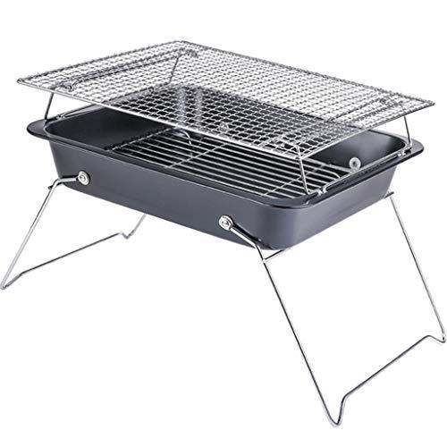 FEANG Holzkohlegrill, Edelstahl tragbare Klapptisch-Tischplatte Barbecue Mini Grill Outdoor Raucher für Camping Picknick Patio Hinterhof