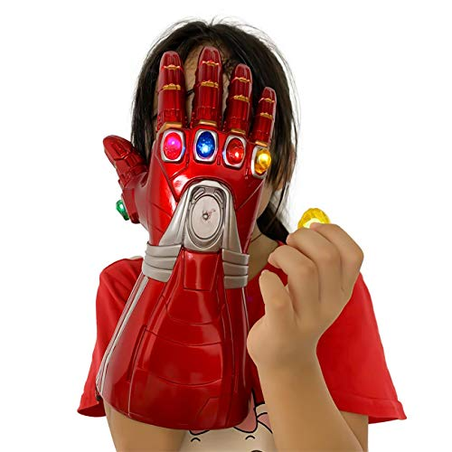 New Iron man Infinity Gauntlet for Kids, Iron Man Glove LED with Removable Magnet Infinity Stones-3 Flash mode. (Kids) …