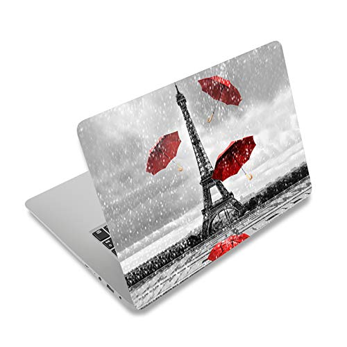 """Laptop Skin Sticker Decal,12"""" 13"""" 13.3"""" 14"""" 15"""" 15.4"""" 15.6 inch Laptop Vinyl Skin Sticker Cover Art Protector Notebook PC (Free 2 Wrist Pad Included), Decorative Waterproof Removable,Eiffel Tower"""