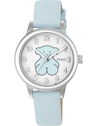 Reloj New Muffin de Acero con Correa de Piel (Piel Azul)
