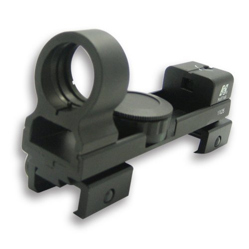 "NcStar 1X25 Red and Green Dot Reflex Sight / Weaver and 3/8"" Dovetail Base/Black (DAB)"
