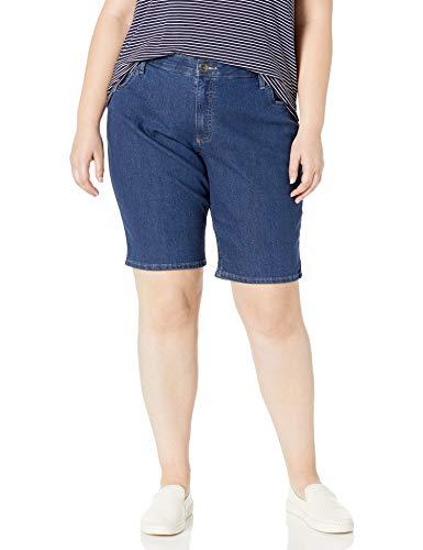 Riders by Lee Indigo Women's Plus Size Comfort Waist Bermuda Short, Blue Suede, 22 W