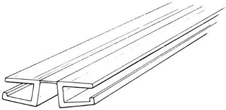 Craftics Clear PVC Living Hinge with Bottom Groove, Fits 1/4