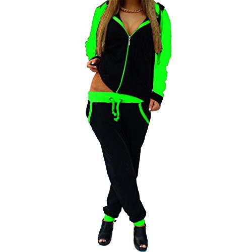 JiXuan Conjuntos Chándal de Talla Grande Mujer 2 Piezas Conjuntos Sudadera con Capucha y Pantalones de Chándal Sweatsuits