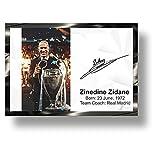 Exclusivo Zinedine Zidane El Real Madrid Coach con marco impreso en 3D