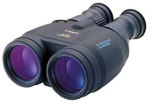 Canon 15x50 IS Allwetter Fernglas (15 fache Vergrößerung, wetterfest, Feldstecher, Präzisionsoptik, IS Bildstabilisator, manuelle Fokussierung, Dioptrinkorrektur, Porroprisma II), schwarz