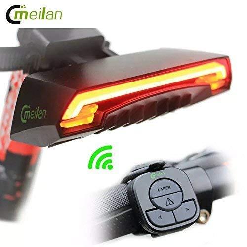 WALIO Meilan X5 - Luz Trasera LED Rojo con Intermitentes y Mando