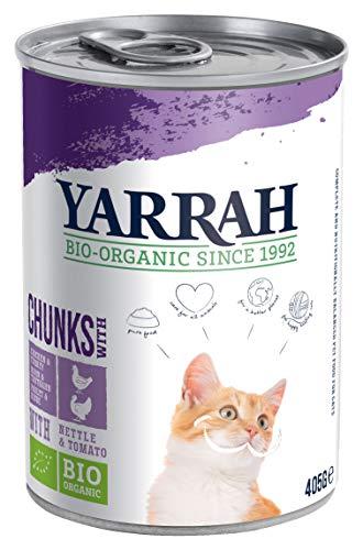 YARRAH Bio Katzenfutter Bröckchen Huhn und Truthahn 405g, 12er Pack (12 x 405 g)