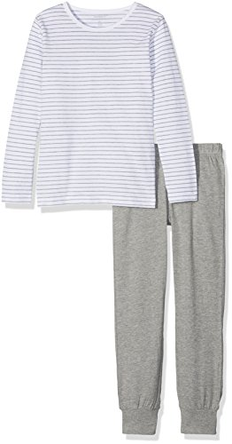 NAME IT meisjes pyjama (tweedelig) NKFNIGHTSET GREY MEL NOOS
