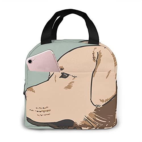Paquete multifuncional de la cremallera de la impresión del perro de las botellas para el trabajo de la escuela, la oficina bolso aislamiento
