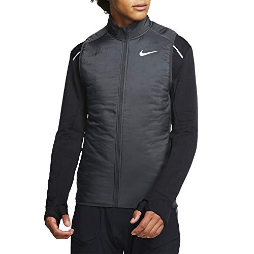 NIKE M Nk Arolyr Vest Chaleco, Hombre, dk Smoke Grey/Grey Fog/Reflective silv, XL
