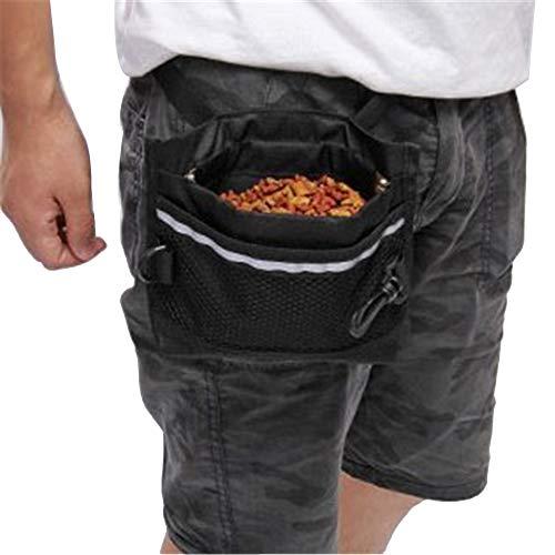 MISSMAO Leckerli-Tasche SnapMaster Für Das tägliche Training mit Dem Hund Leckerli-Beutel mit leichtgängigem Schnapp-Verschluss für Hunde Schwarz
