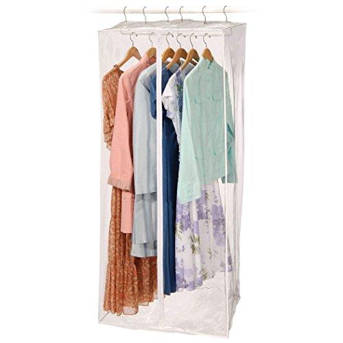 """Jumbo Dress Bag 24"""" x 20"""" x 54"""" (Clear) (54""""H x 24""""W x 20""""D) - 2 pack"""