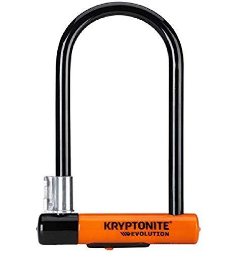 Kryptonite New-U - Evolution , Blocco Disco Evolution Standard con Supporto Flexframe-U Unisex – Adulto, Arancione, 10 x 22.9