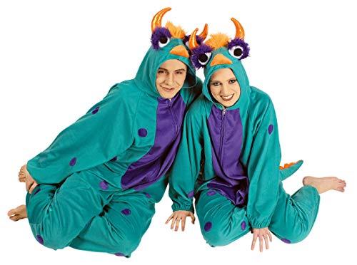 narrenkiste K332544-46-48 - Disfraz de monstruo para mujer (talla 46-48), color turquesa y lila