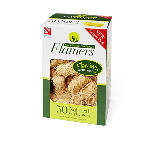 Flamers F50 - Encendedores naturales - Color marrón (paquete de 50)