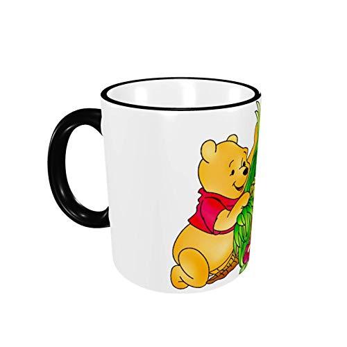 330ML Taza de cerámica Tazas de café Taza de té de Winnie The Pooh para la oficina y el hogar, regalo divertido