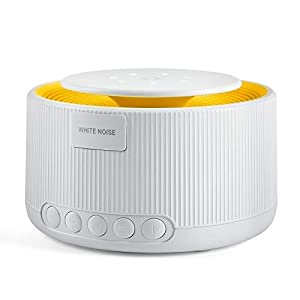 Aircover White Noise Machine – Sound Machine with Night Light, Sleep Machine Fan Noise for Sleeping Baby Kid Adult, 30 Sounds, Plug in, Auto-Off Timer, Portable for Home, Office, Nursery, Travel