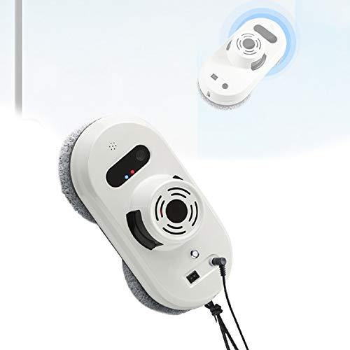 HNWTKJ Robot Limpiacristales Automático, Rápida Y Eficiente, Limpia Cristales Magnetico con Tecnología Avanzada De IA Y Sensores, Ideal para Limpiar Las Mamparas De Baño (Color : White)