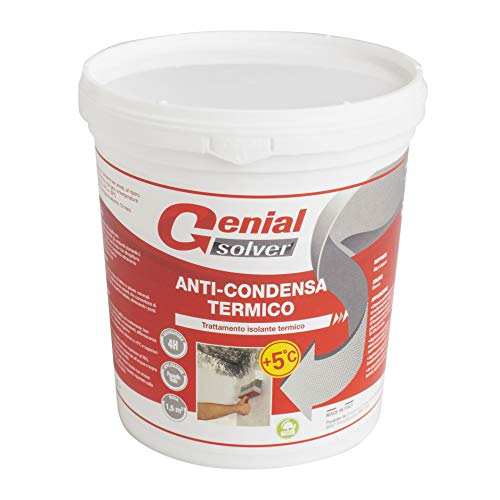Genial Solver Anti-Condensa Termico - Pittura ANTIMUFFA per Intermi bianca - 0.75 L
