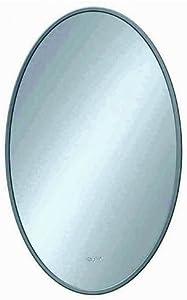 Von adelberg miroir de salle de bain wC et salle de bain avec miroir ronde/ovale avec découpe 60 x 45 cm