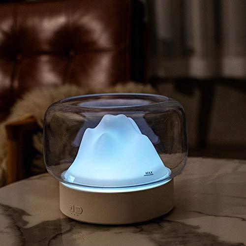 Humidificador, humidificador de niebla ultrasónico con luz nocturna, 400 ml para habitaciones medianas, humidificador sin niebla para habitaciones para bebés, niños y adultos.-blanco