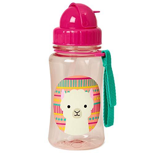 Skip Hop Zoo Trinkflasche für Kinder, Lama Luna, mehrfarbig