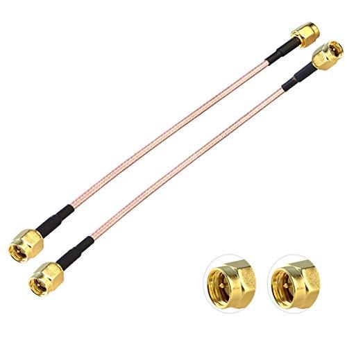 TUOLNK - Paquete de 2 cables adaptador SMA a SMA de 6 pulgadas RG316 SMA macho a SMA macho Cable de extensión de antena WiFi para antenas/cable coaxial RF Cable coaxial SMA macho a SMA macho