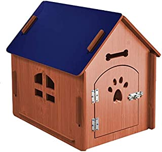 24x7 eMall Dog House Pet Wood Dog Kennel with Gate Indoor and Outdoor House Easy Assembly Ideal for Small and Medium Pets ...