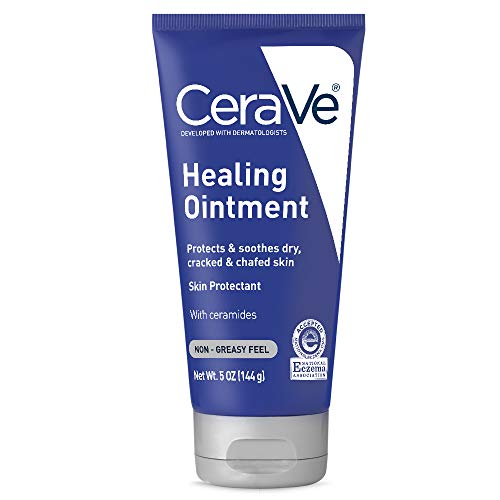 CeraVe Healing Ointment | 5 Ounce | Cracked Skin Repair Skin Protectant with Petrolatum Ceramides | Lanolin Free | Packaging May Vary