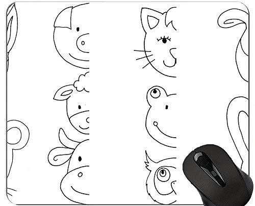 Niedliche Schwein-Computer-Mausunterlage, tierische bequeme Mausunterlage für Spiel und Büro - (Schwein)