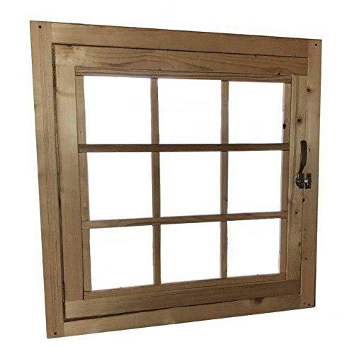 Home Idea Italia, Finestra in legno per casetta (81 x 81 cm)