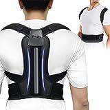 Back Brace Posture Corrector - Back Support Belt with Fully Adjustable Straps Relief Lower & Upper Back Pain, Improve Posture & Provides Lumbar Support - Fit for Men, Women
