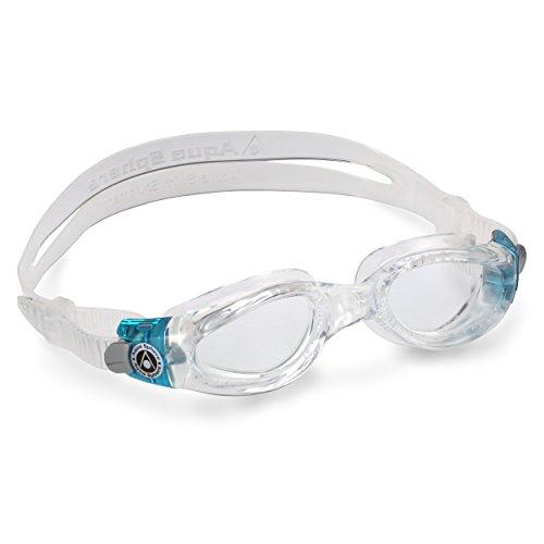 Aqua Sphere Kaiman Small Gafas de natación, Unisex Adulto, Transparente y Turquesa, Talla única