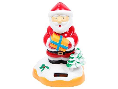 Figurine Père Noël se balance à l''énergie solaire type Nohohon Santa Christmas rouge et blanc balancier differents figures pions deco voiture maison terrasse jardin jouet cadeau décoratif original pour enfant fille garcon adulte homme, choisir:SB-21 le père noël 13x9cm'