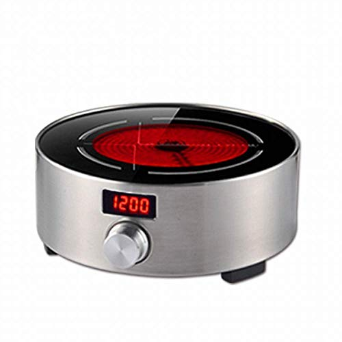 1yess Elektrischer Keramik-Tee-Herd Silent Light Wave Mini Small Tee Brewing Herd Induktionskocher Haushalt Induktionskocher, Silbergrau, 1