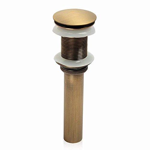 Solepearl Pop up Ablaufgarnitur, Messing Ablaufgarnitur für den Waschtisch Pop-Up-Ventil Waschbecken-Ablauf Ohne Überlauf Beendet (Gelb)