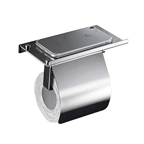 Jjoer Klopapierhalter Mit Deckel Toilettenpapierhalter Rostfreier Stahl Toilettenpapierhalter Mit Ablage Klopapier Halterung FüR ÖFfentliche Toiletten BäDer Hotels