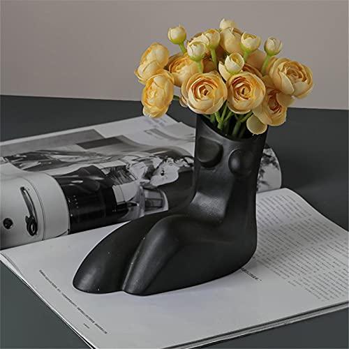 RZHIXR Florero De Cuerpo Humano Arreglo Floral De Flores Secas, Jarrón De Flores Secas Abstracto Nórdico, Adecuado para Decoración De Bodas, Salas De Estar Y Oficinas