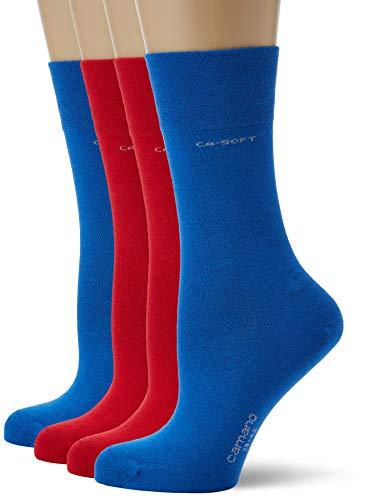 Camano Herren 3642000 Socken, Rot (True Red 0041), (Herstellergröße: 39/42) (4er Pack)