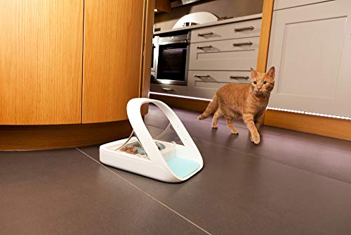 Sure Petcare -SureFlap - SureFeed - Microchip Pet Feeder - Selective-Automatic Pet Feeder Makes Meal Times Stress-Free, Suitable for Both Wet and Dry Food - MPF001
