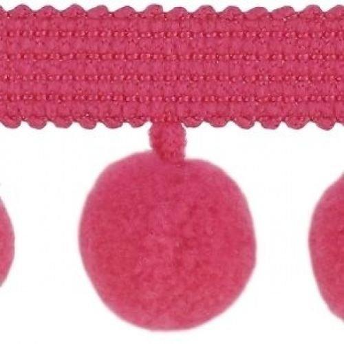XL Pom Pom frange Garniture Bobble galon – Taille XL 2 cm (2 cm) Best Qualité. (par mètre) Framboise # C