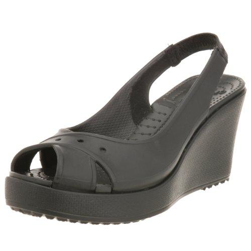 Crocs Donna Farrah Aperte sulla Caviglia Nero Size: 36 EU
